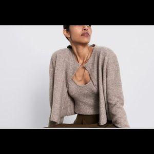 Zara wool blend bra-digan set